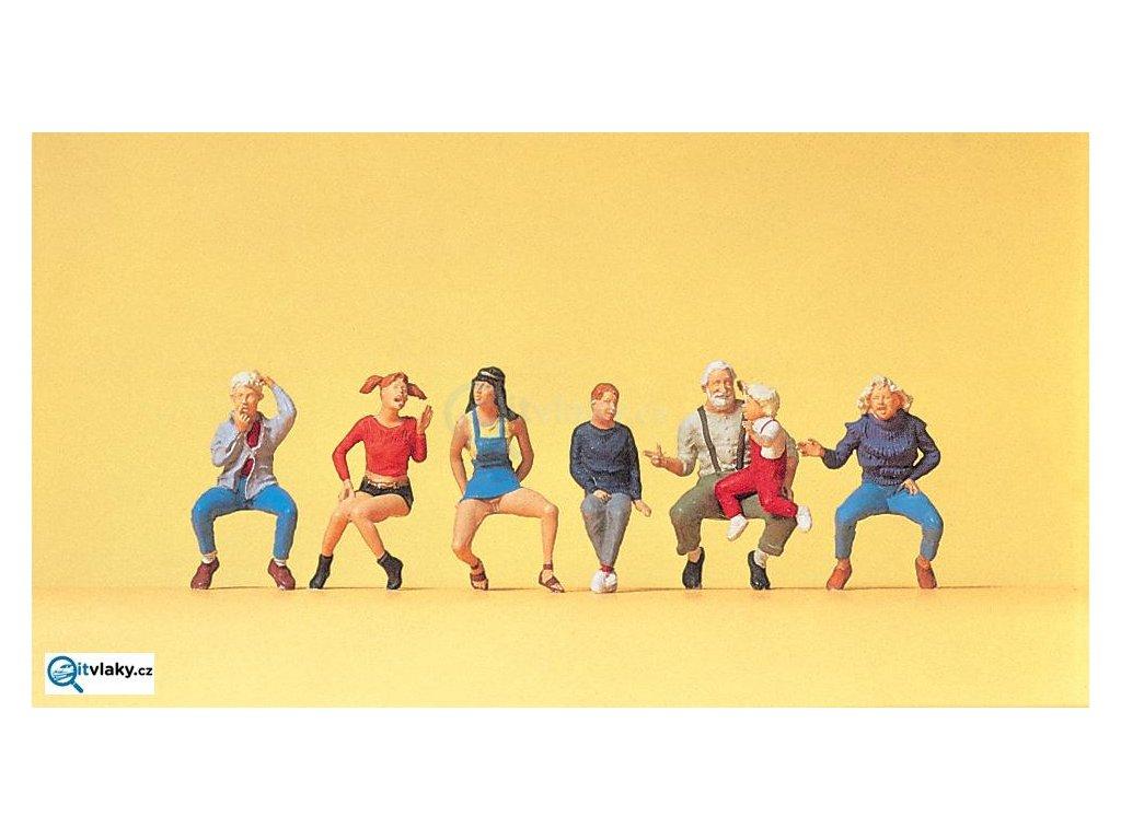 H0 - Děda s dětmi, 7 figurek / Preiser 10536