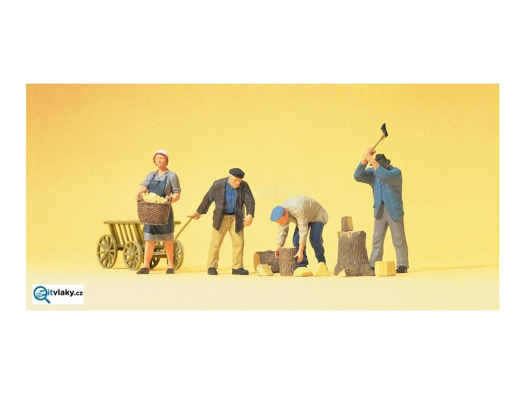 H0 - Farmáři, 4 figurky / Preiser 10539