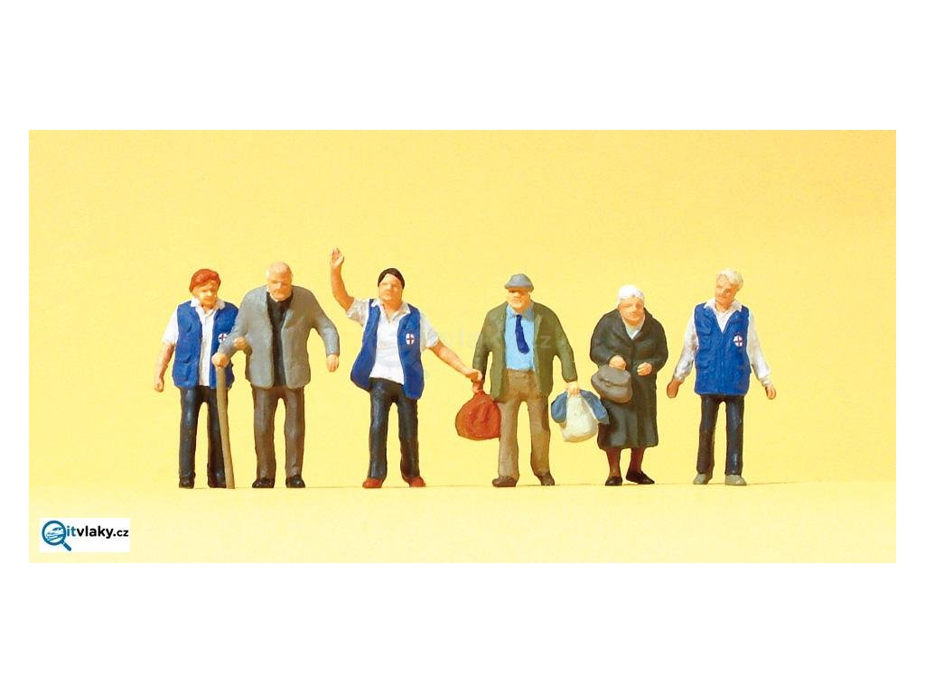 H0 - Železniční zaměstnanci, 6 figurek / Preiser 10544