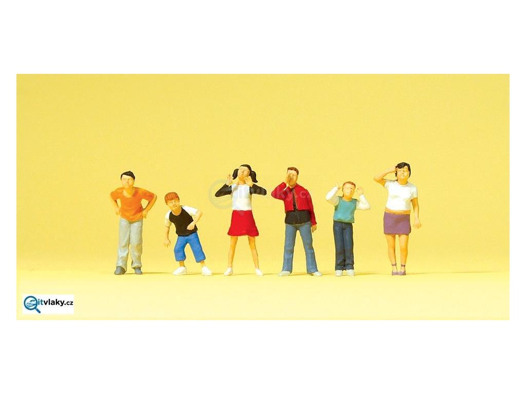 H0 - Děti, 6 figurek / Preiser 10556