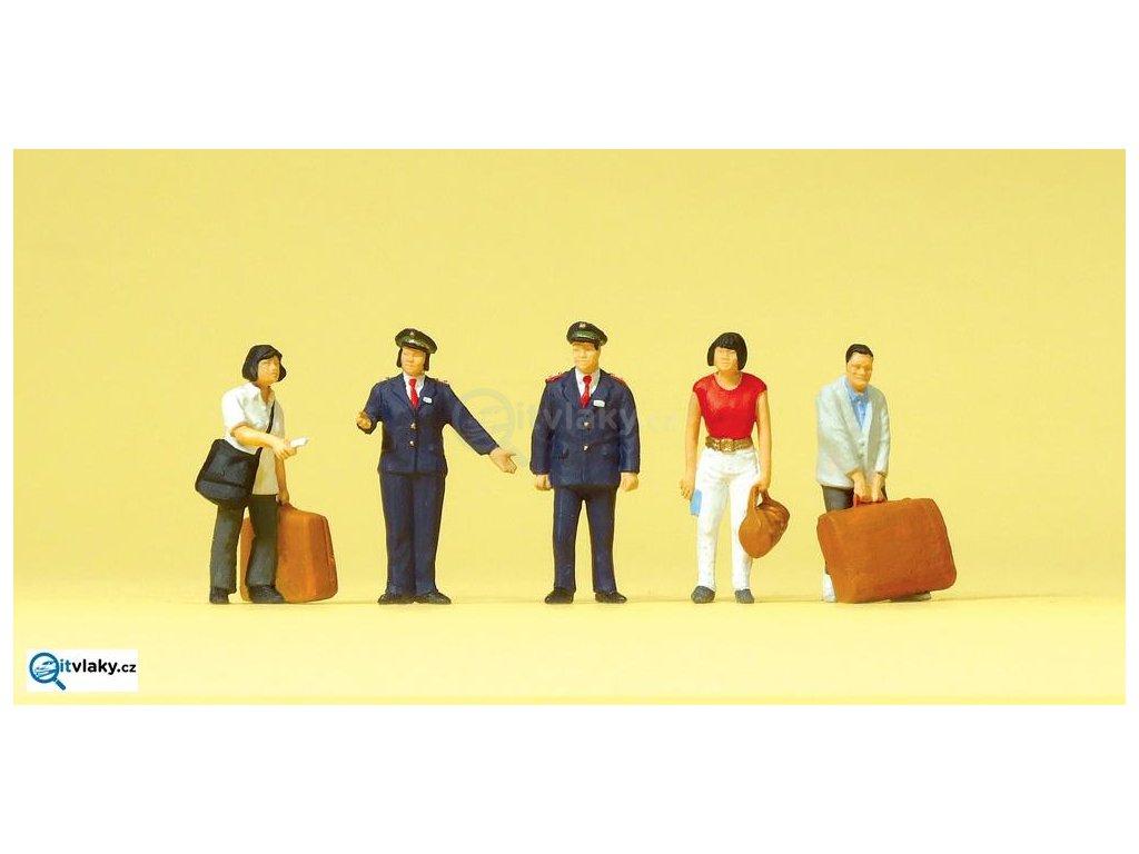 H0 - Železničáři, cestující číňani, 10570
