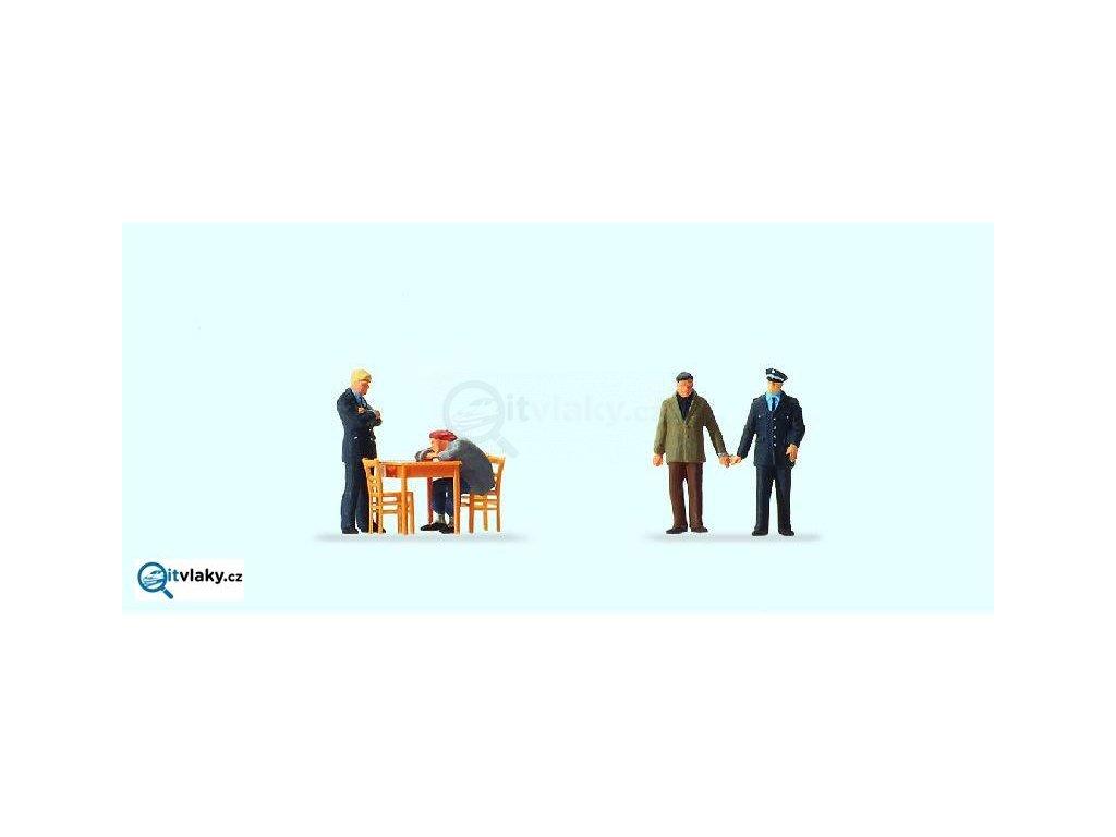 H0 - U výslechu, 4 figurky / Preiser 10590