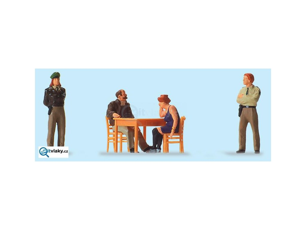H0 - U výslechu, 4 figurky / Preiser 10604