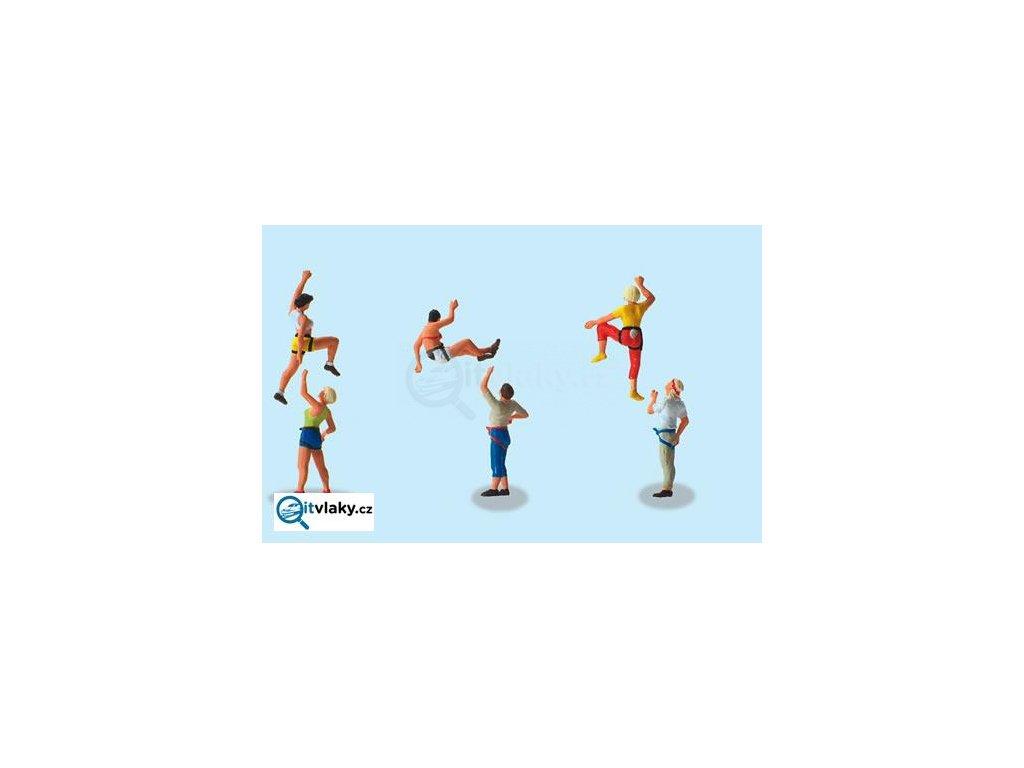 H0 - Volné lezení, 6 figurek / Preiser 10606