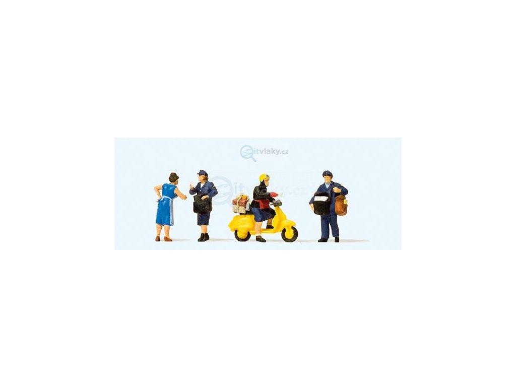 H0 - Pošťáci, 4 figurky / Preiser 10610