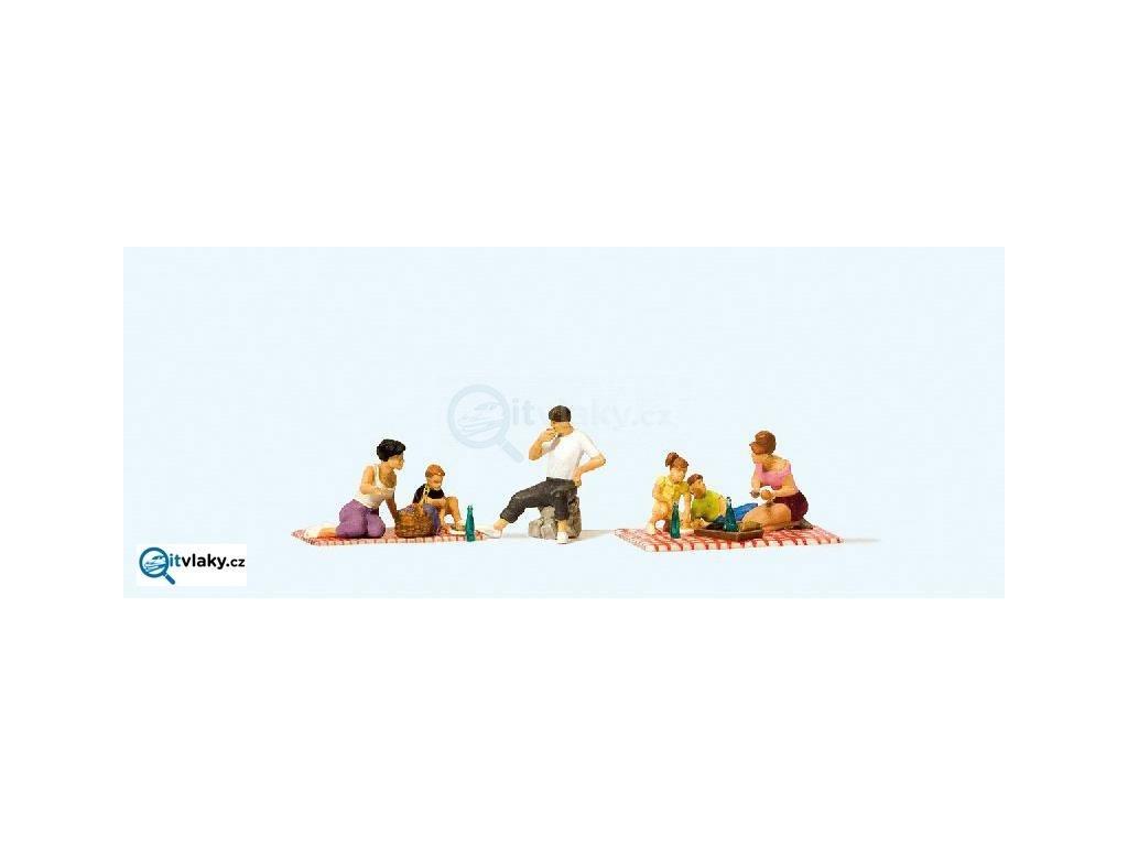 H0 - Piknik, 6 figurek / Preiser 10617