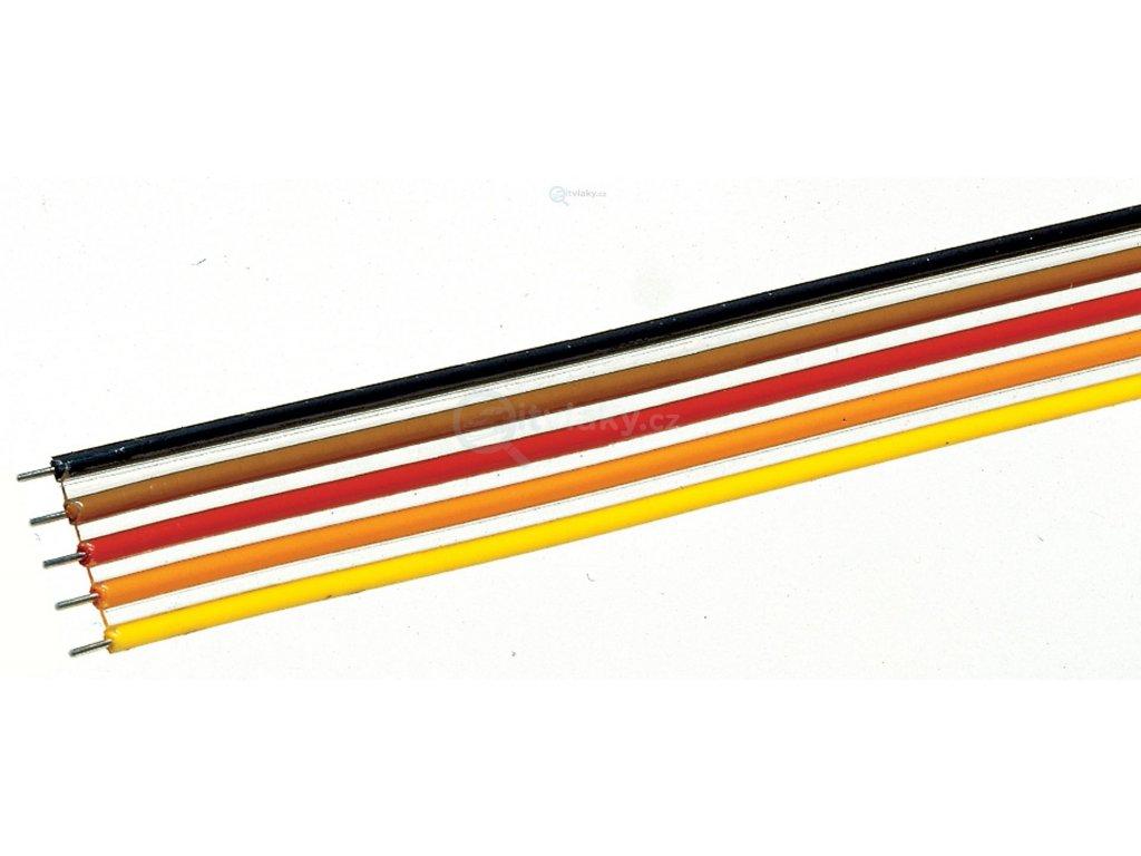 Plochý kabel 10m -  5 pólový,  vodič 0,7 mm2 / Roco 10625