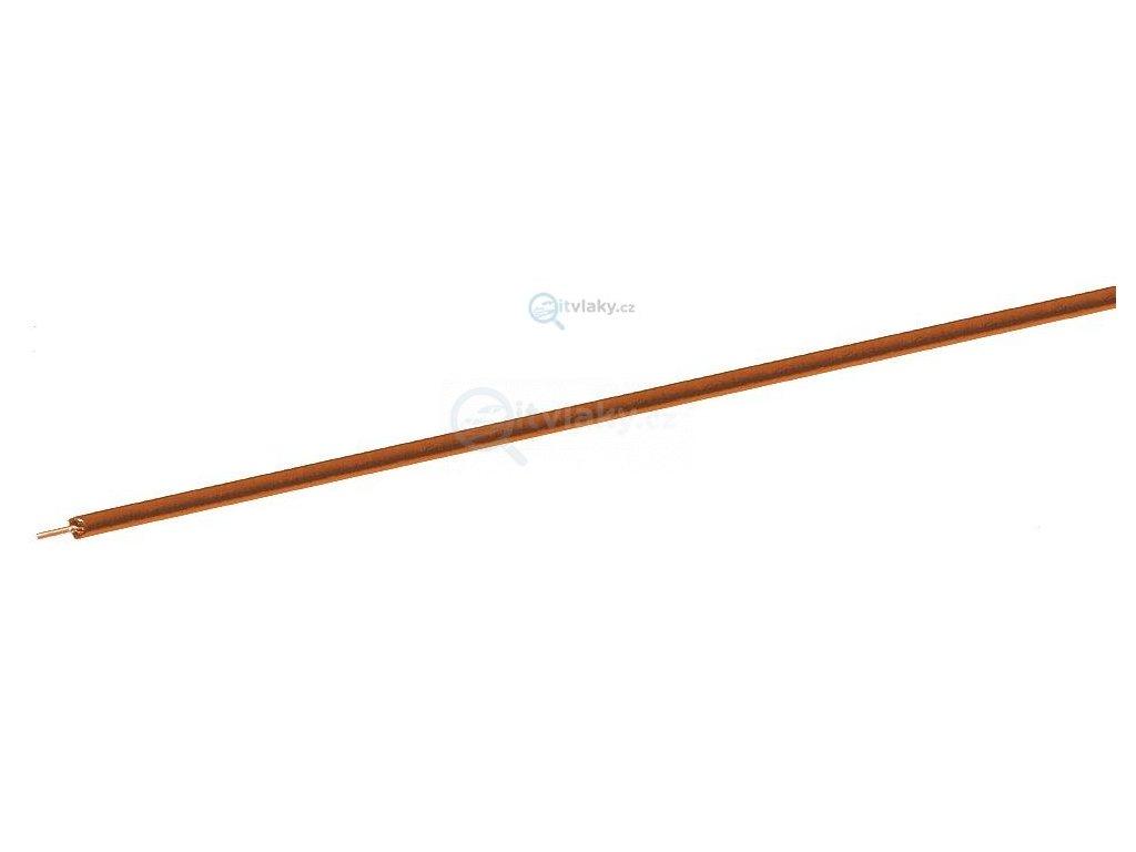 jednopólový oranžový kabel, 10 m - průřez 0,7 mm2 / ROCO 10632