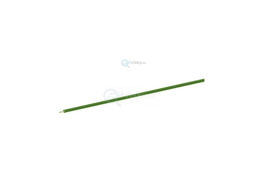 jednopólový zelený kabel, 10 m - průřez 0,7 mm2 / ROCO 10635