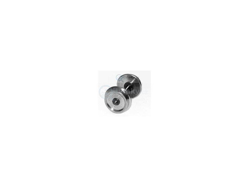 TT - dvojkolí kovové - 7,7 mm, jednostranně izolováno / Müller 87, 107701