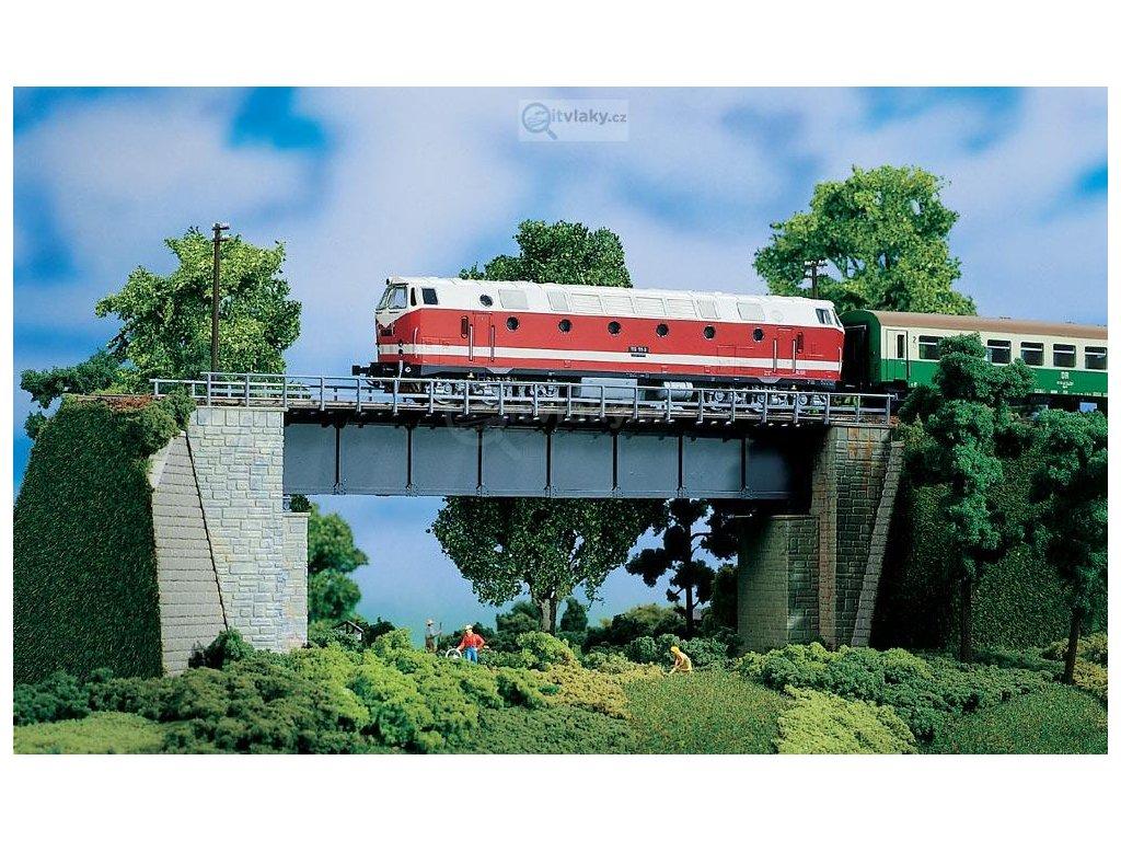 H0/TT - Ocelový most 327 mm, stavebnice, plast / Auhagen 11341