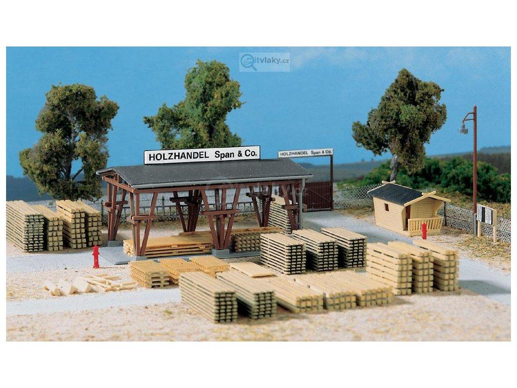 H0 - Obchod dřevem / Auhagen 11353