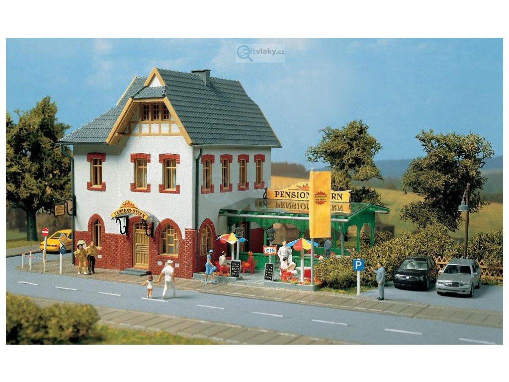 H0 - Penzion Stern, stavebnice / Auhagen 11354