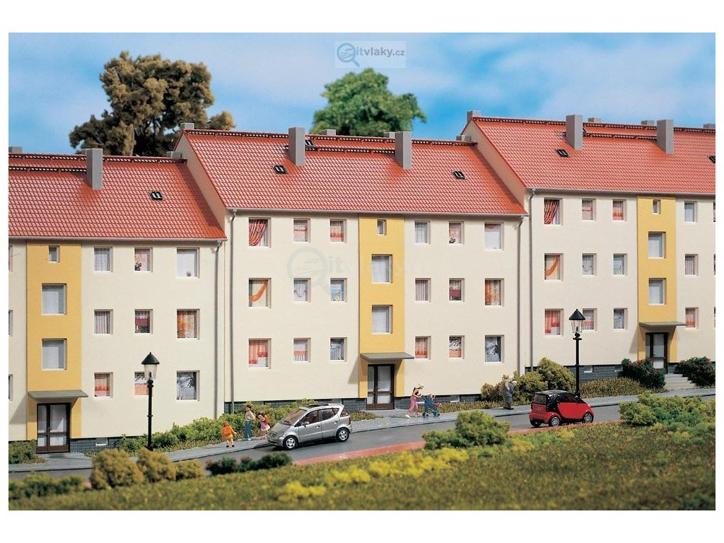 H0 - Řadový dům / Auhagen 11402