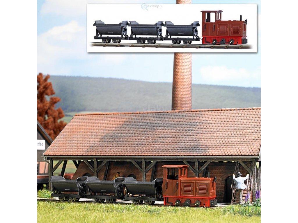 237298 h0f start set uzkorozchodne prumyslove zeleznice koleje trafo busch 12006