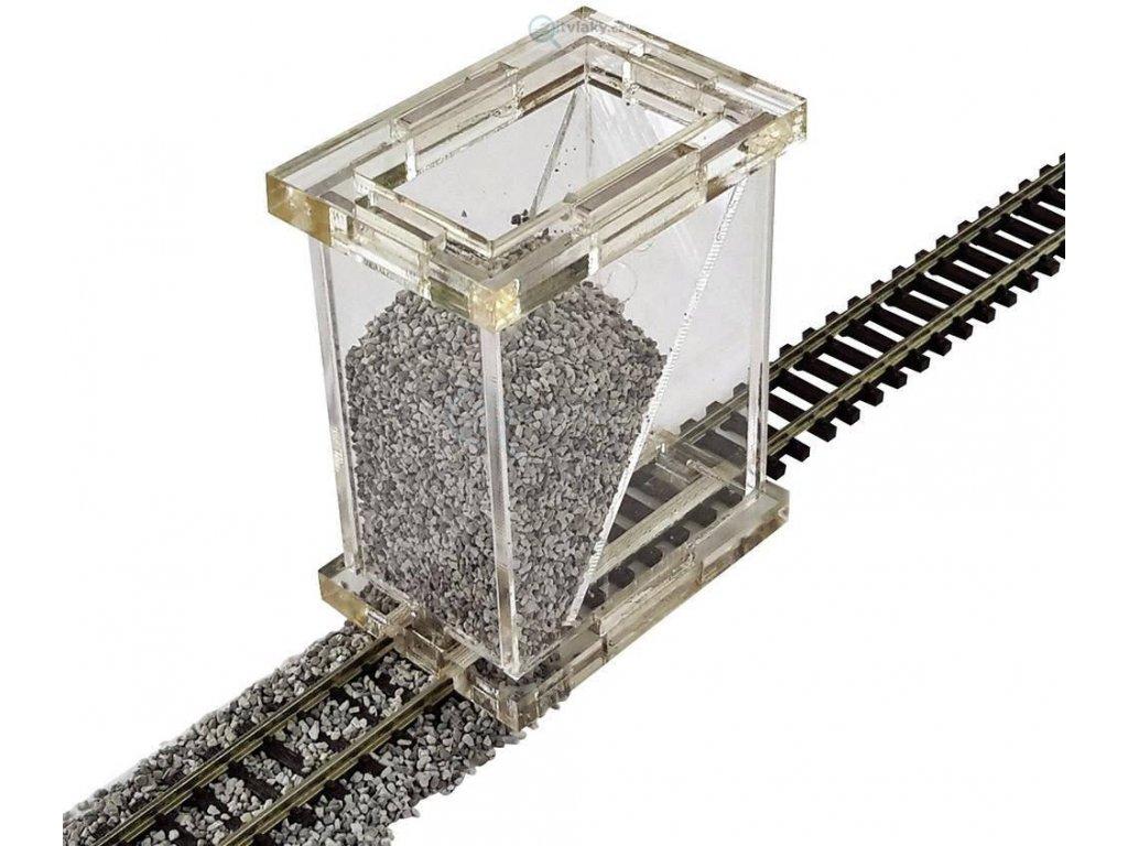 H0 - sypač štěrku, sestavený / Proses PBS-H0-01 EPV