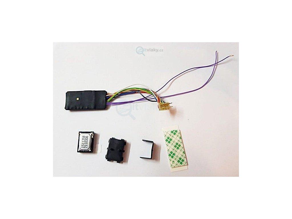 zvukový kit dekodér NEM652 a repro pro H0 lokomotivy / ROCO 10876kit