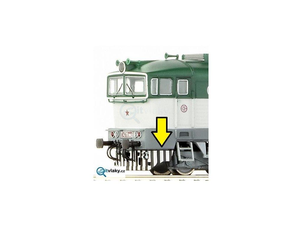 TT - ND pluh s otvorem na spřáhlo pro Brejlovec 36262-63 / ROCO 130249
