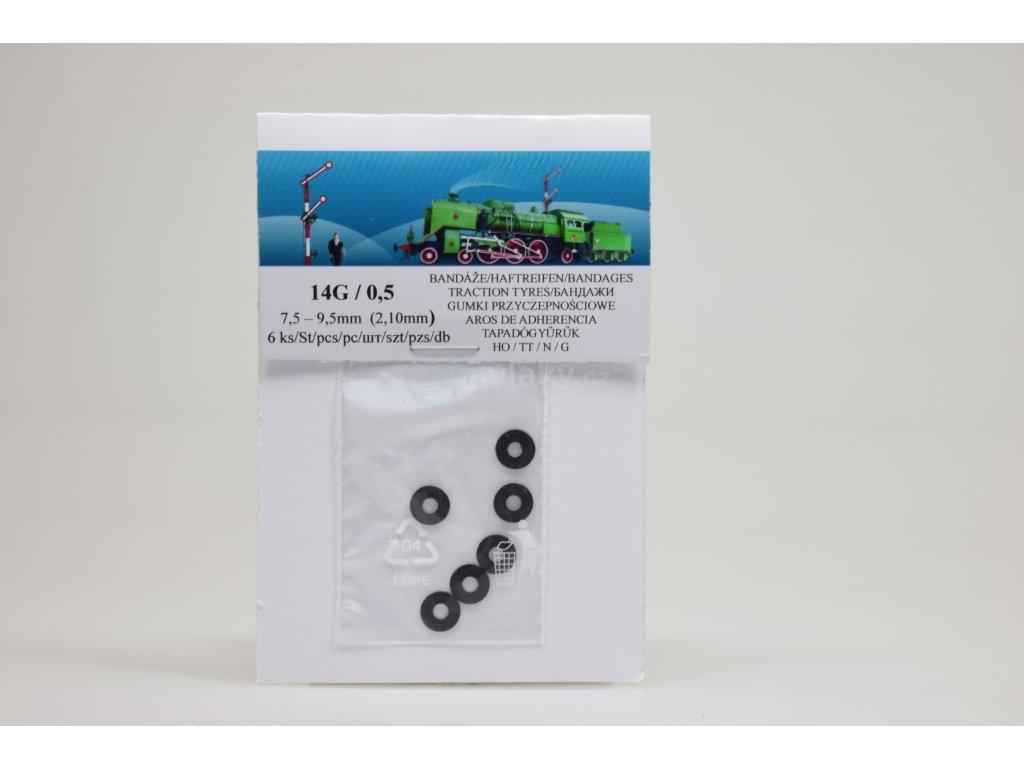 14G  Bandáže 7,5 - 9,5 mm, šířka 2,10 mm, 6ks