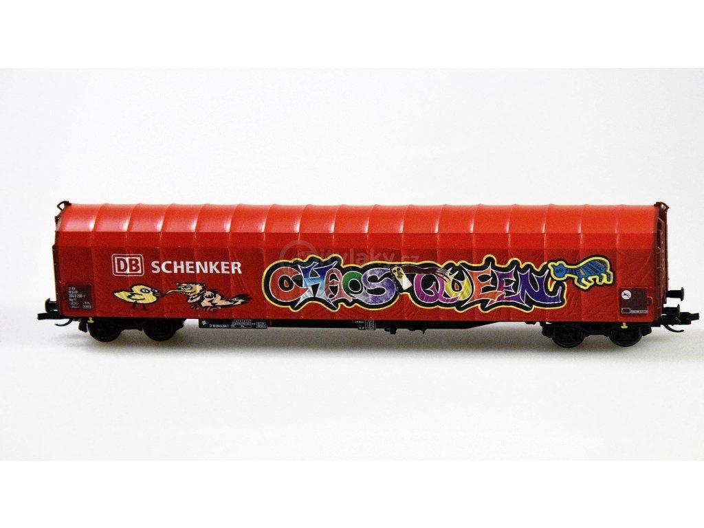 ARCHIV TT - plachtový vůz Rils 652 DB Schenker s Graffiti / Tillig 15750 E