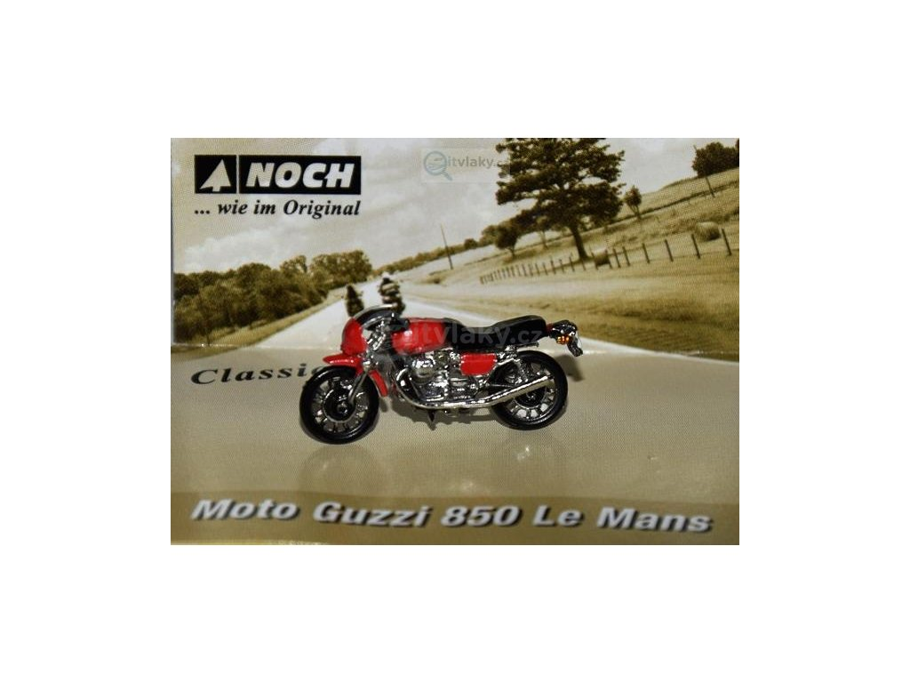 H0 - motorka Guzzi 850 Le Mans / NOCH 16444