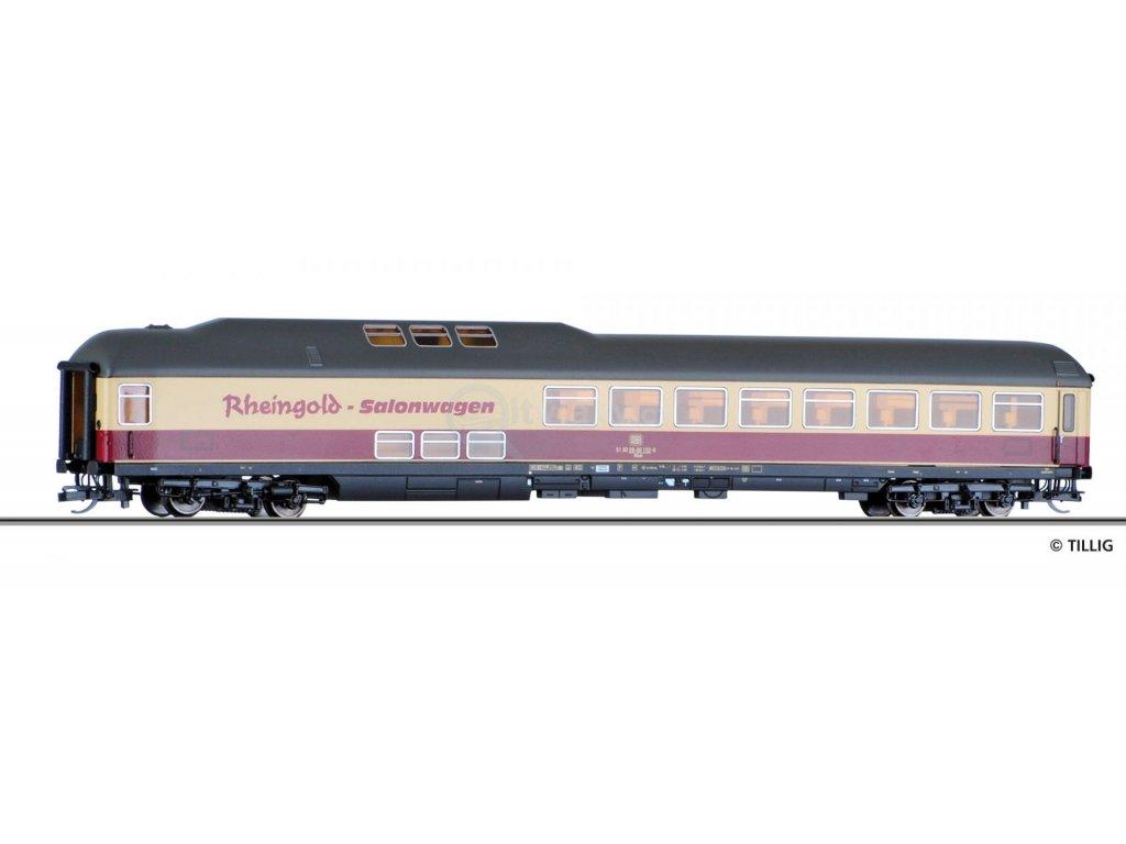 """ARCHIV  TT - salonní vůz Rheingold """"Eisenbahn-Kurier"""" DB/ Tillig 16595 E"""