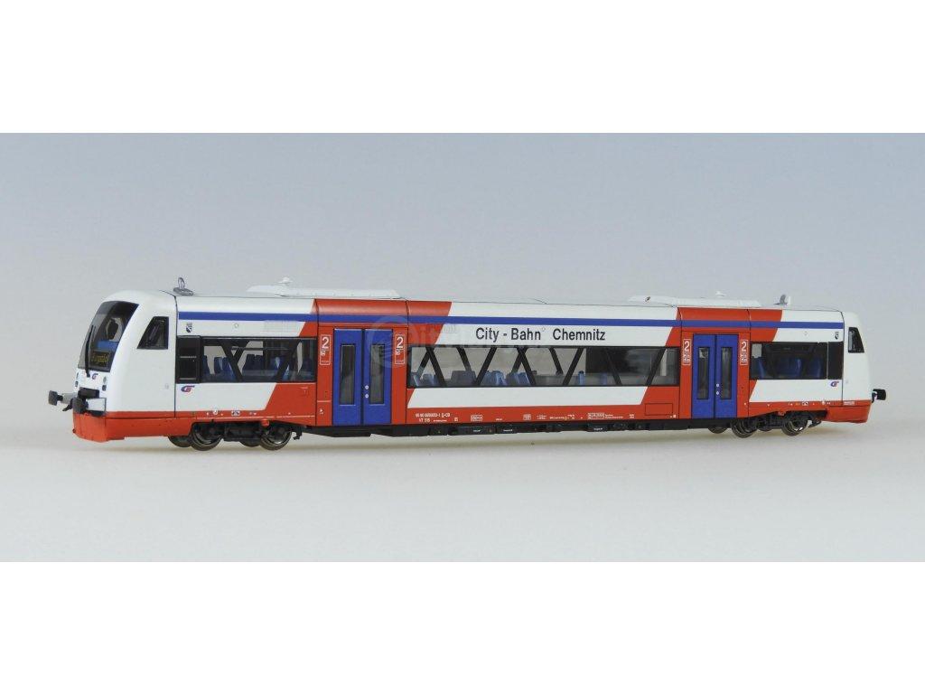 """TT - Dieselová jednotka VT515 """"City-Bahn Chemnitz GmbH"""" / Kuehn 33512"""