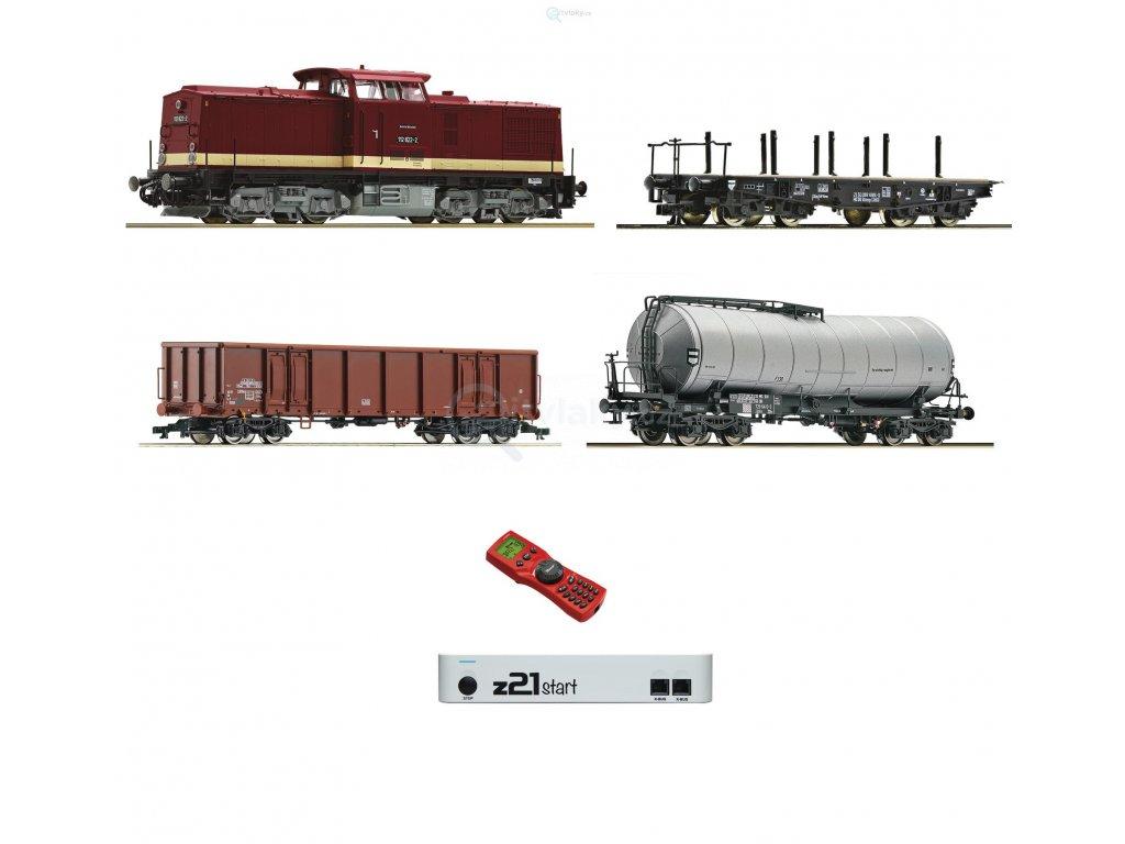 TT - DCC Start set - lokomotiva DR řady 115 , z21start + multiMaus  / ROCO 35021
