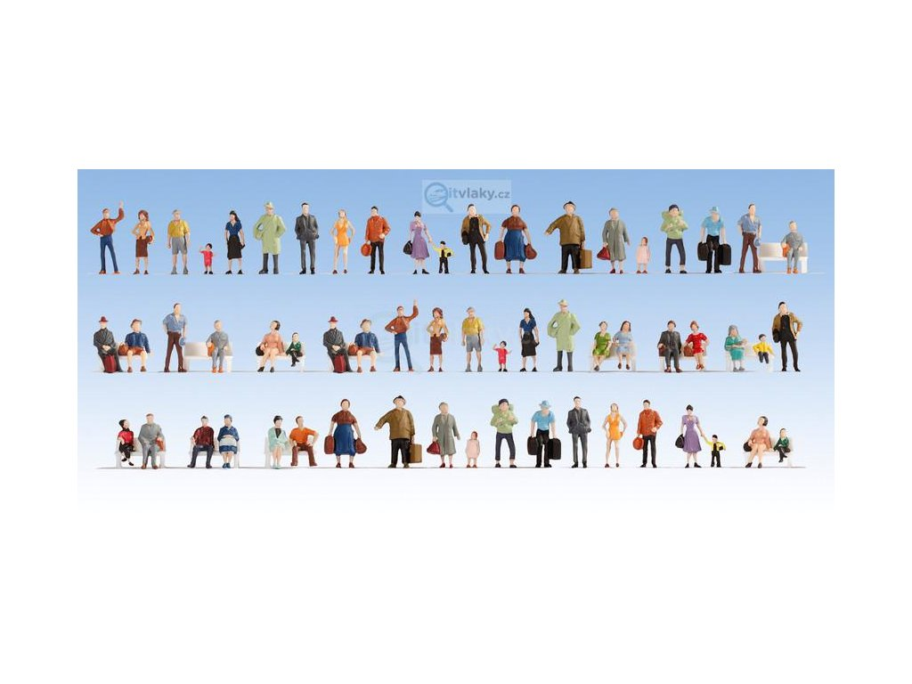 N - Mega set 60 ks stojících figurek / 38401 NOCH
