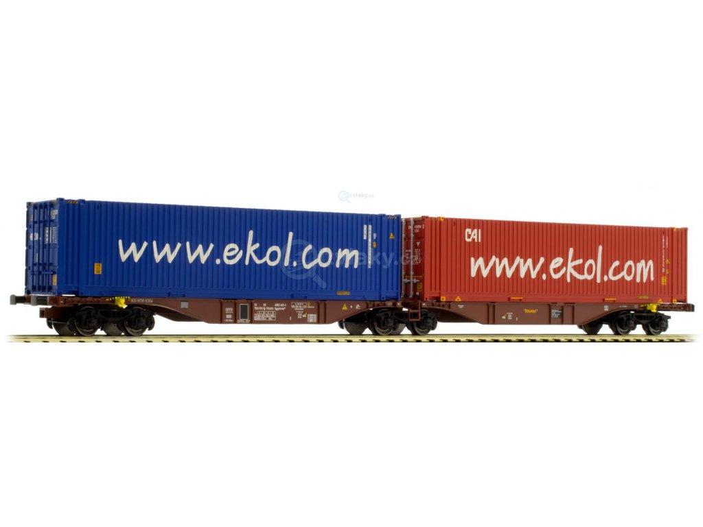 SLEVA! H0 - plošinový vůz ložený kontejnery Touax/TGCS /A.C.M.E. 40281
