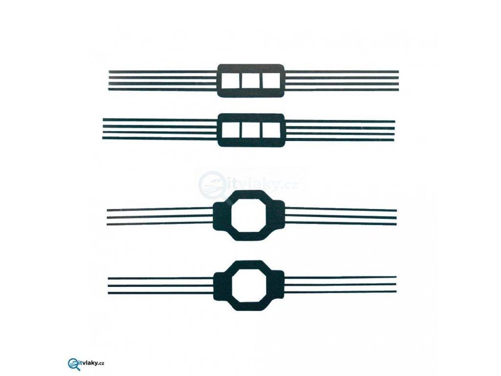 TT/N - Sběrače proudu z kol 4ks, viz foto / 244075