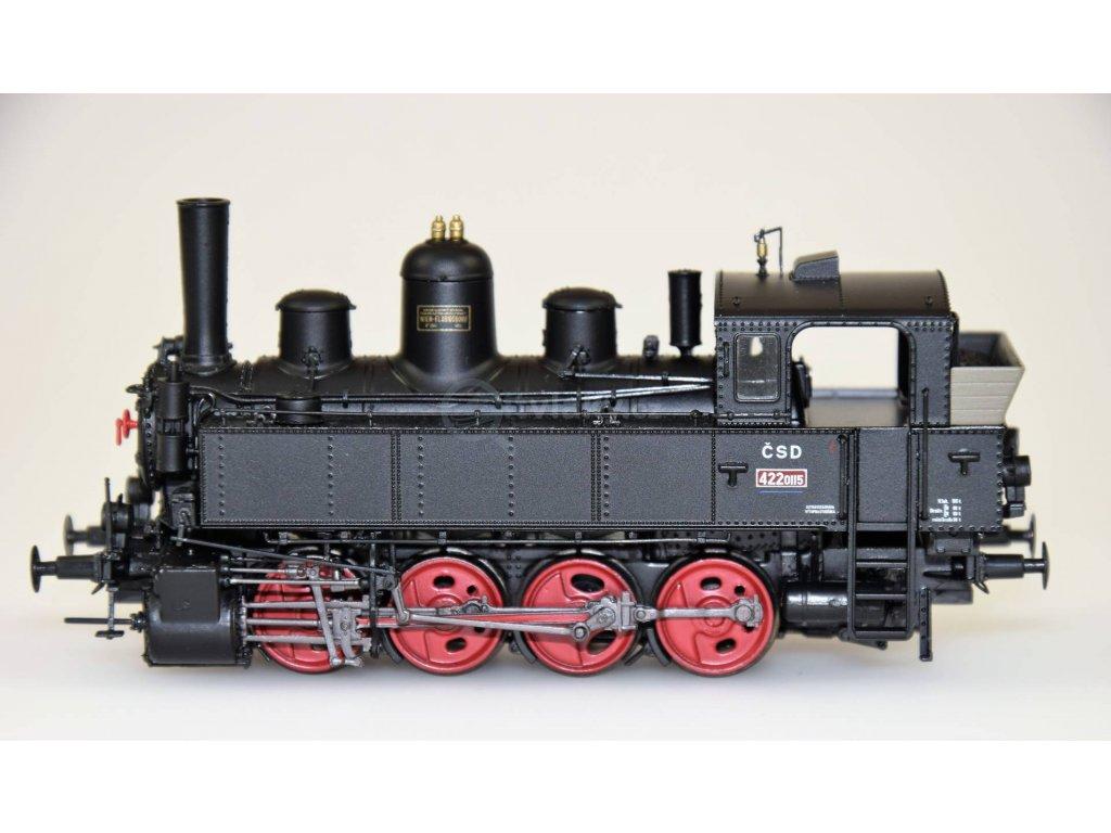 H0 - parní lokomotiva 422.0115 ČSD ,,Bejček,,/ Brawa 40792