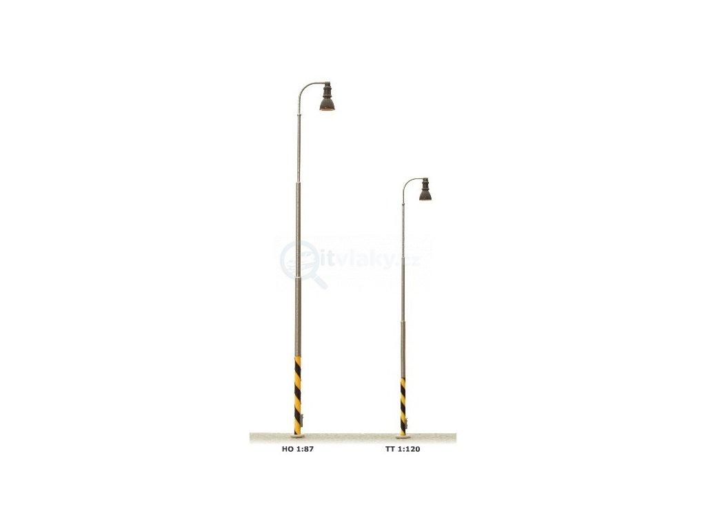 H0 - Nádražní lampa na ocelovém stožáru, bílá LED  / JM Detail LI-H0- 411201