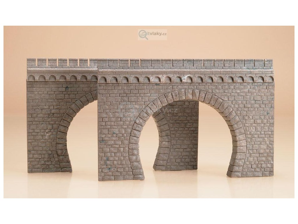 H0 - 2 tunelové portály dvoukolejné / Auhagen 41587