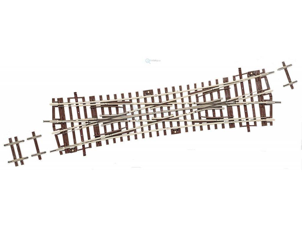 H0 - Roco Line DKW15 křižovatková výhybka 230mm R1050mm 15st / ROCO 42451