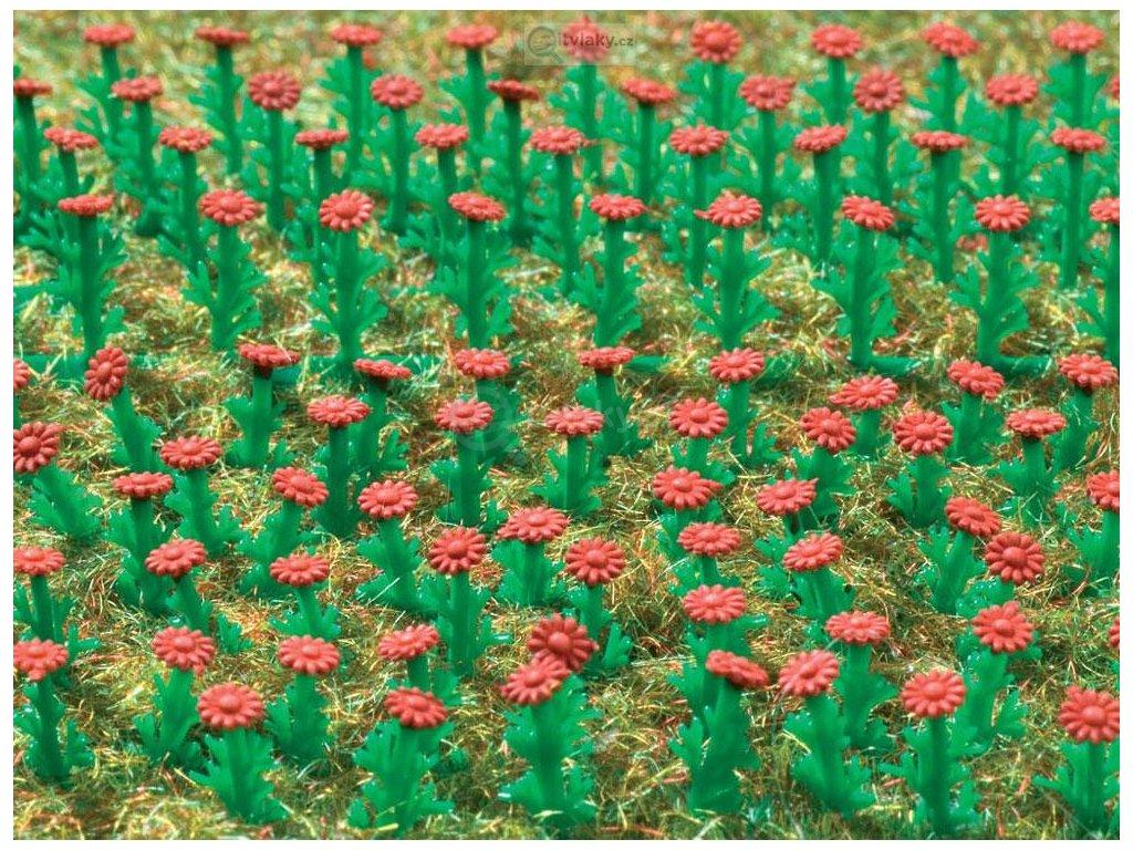 H0 - květiny Astry 120 ks - červené / Vollmer 45116