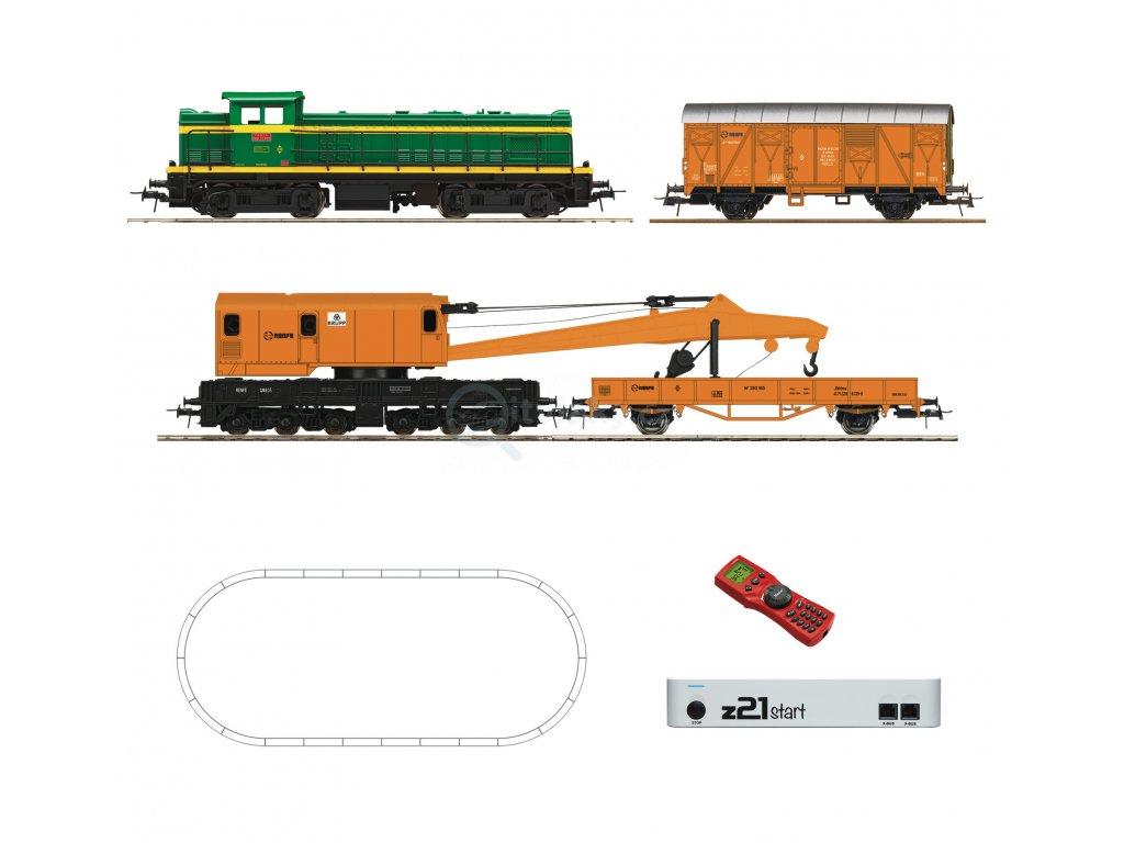 H0 - DCC start set lokomotiva D.307 Renfe, z21start, MultiMaus / ROCO 51305