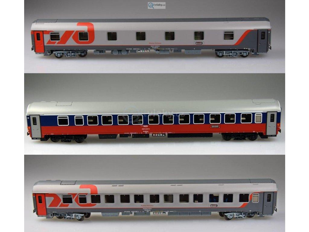 Poslední! TT - set tří vozů Moskva - Bohumín - Nice, ŘŽD / LS Models 58029