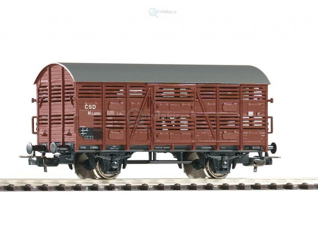 H0 - krytý nákladní vůz ČSD na přepravu zvířat M / PIKO 58901