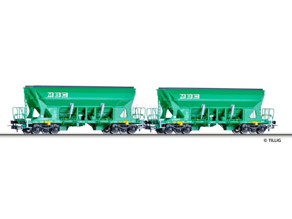 SLEVA! H0 - set 2 výsypných vozů, MBC / Tillig 70036