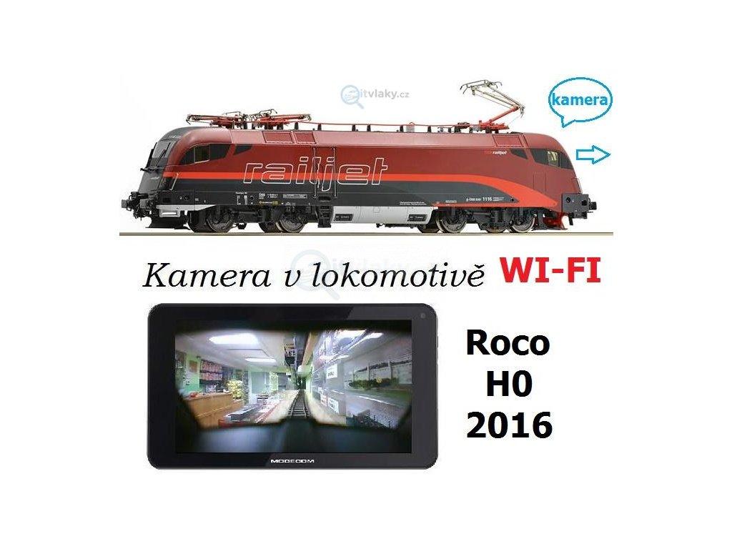 SLEVA! H0 - DCC/ZVUK/KAMERA lokomotiva 1216 Railjet Taurus ÖBB / ROCO 73234