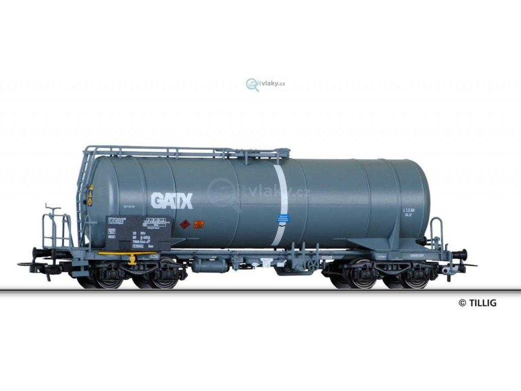 Poslední kus! H0 - Cisternový vůz Zaes GATX / Tillig 76581