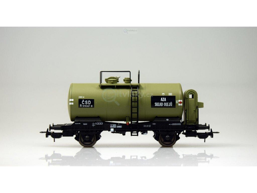 H0 - kotlový vůz R, Muzeum ČSD, SKLAD olejů / Tillig 76714