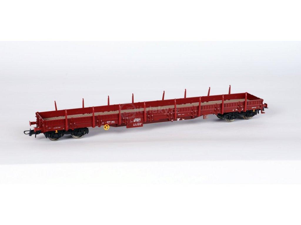 H0 - Plošinový vůz Res s klanicemi - ČSD, nové číslo, černé podvozky / ROCO 76982