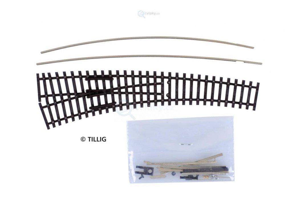 TT - STAVEBNICE obloukové výhybky levé IBW, vodivá srdcovka / Tillig 83412