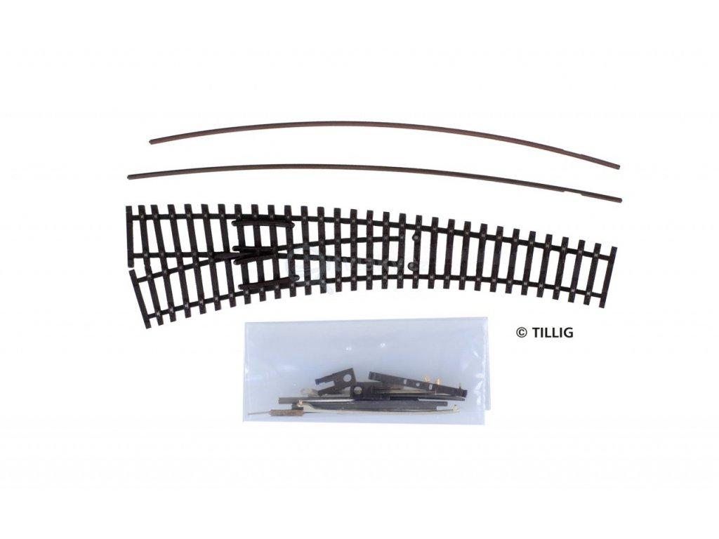 TT - Stavebnice obloukové výhybky IBW levá brunýrovaná / Tillig 83416