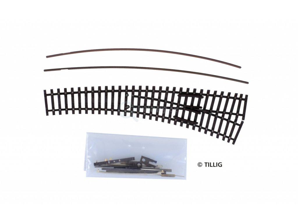 TT - Stavebnice obloukové výhybky IBW pravá brunýrovaná / Tillig 83417