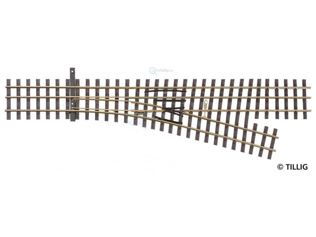 H0 - H0e - Tříkolejnicová výhybka DSSW, pravá / Tillig 85191