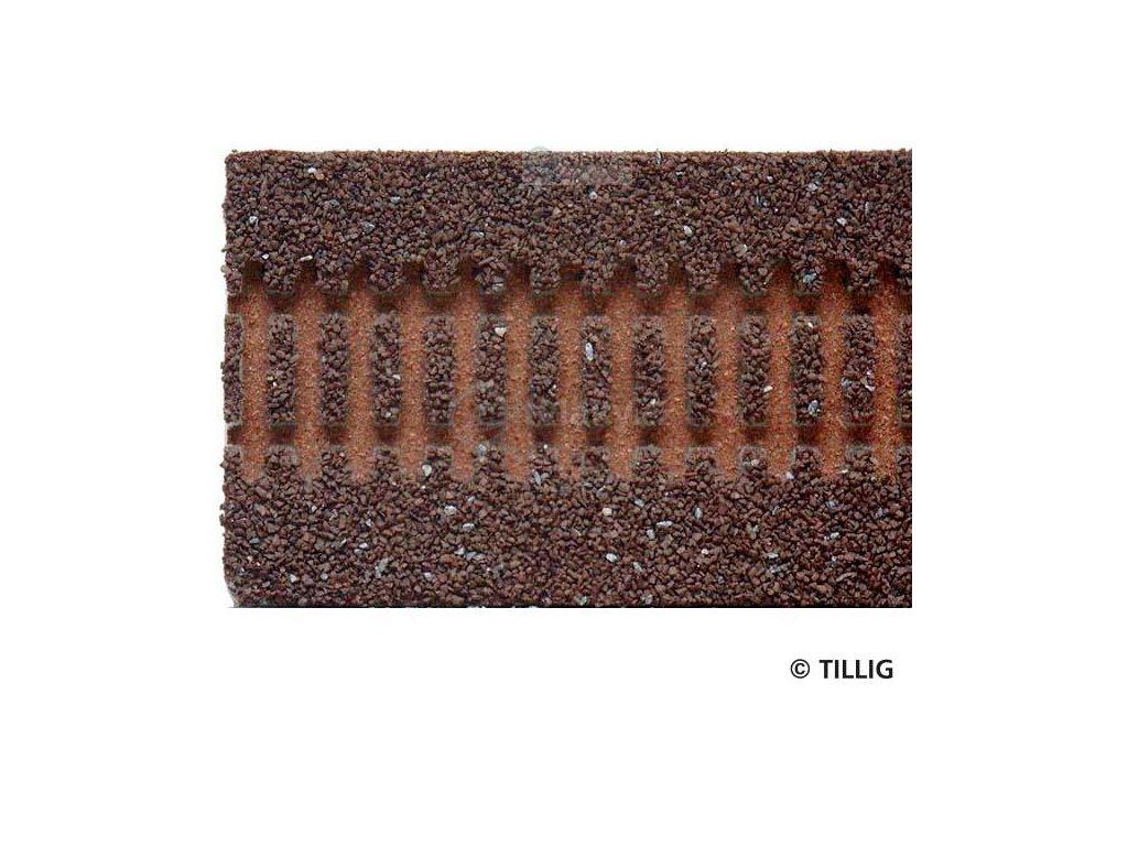 TT  - štěrkové lože tmavé pro rovné koleje G1-G5 - délky 332 mm / Tillig 86301