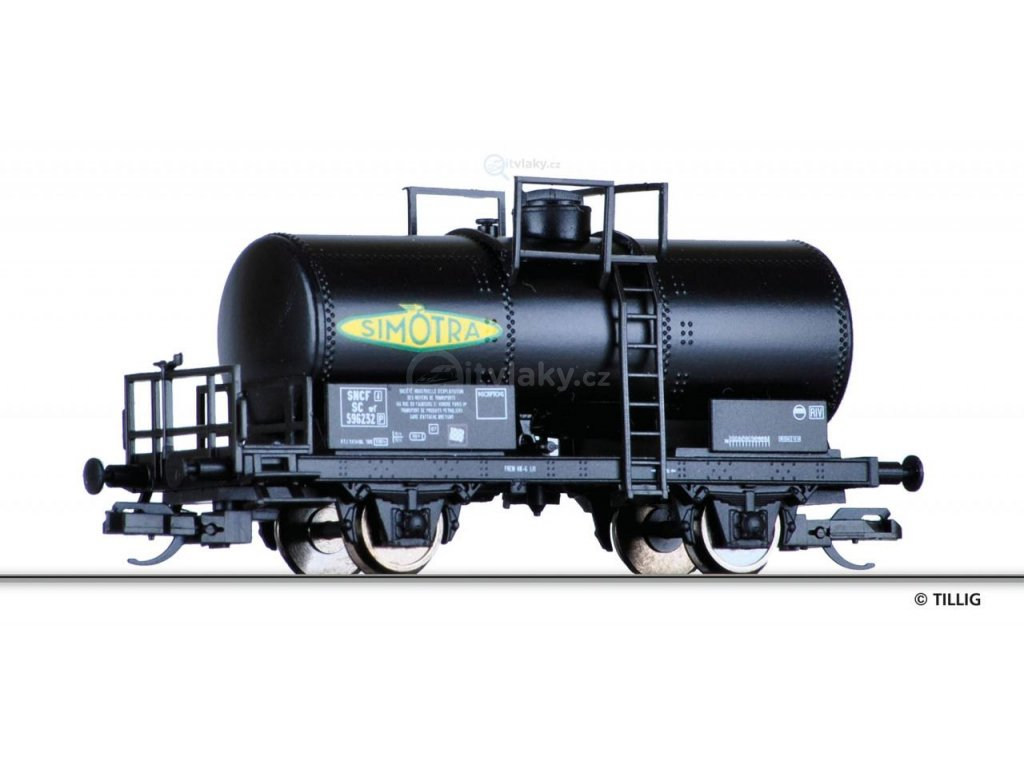 "TT - cisternový vůz ""Simotra"", SNCF  / Tillig 95854"